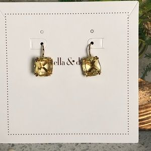 Stella and Dot Citrine Colored Earrings NWOT